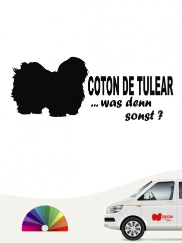 Coton de Tulear was denn sonst Heckscheibenaufkleber anfalas.de