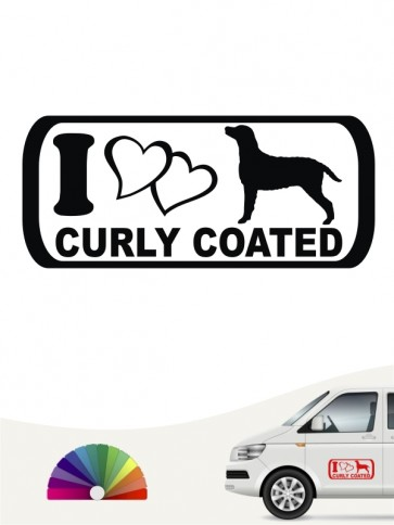 I Love Curly Coated Aufkleber anfalas.de