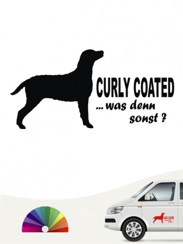 Was denn sonst Curly Coated Aufkleber anfalas.de