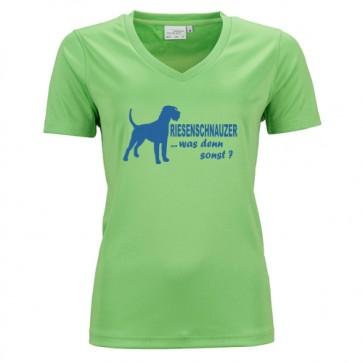 Damen Active V-Shirt mit Hundemotiv von anfalas.de