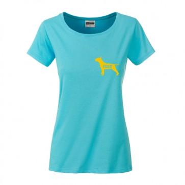 Damen Bio Shirt mit Hundemotive von anfalas.de