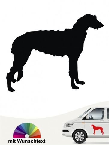 Deerhound Heckscheibenaufkleber mit Wunschtext anfalas.de