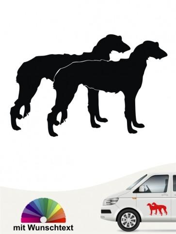 Deerhound doppel Silhouette Aufkleber anfalas.de