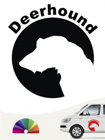 Deerhound Aufkleber von anfalas.de