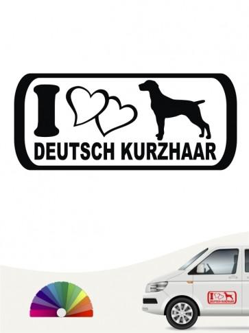 Deutsch Kurzhaar I Love Hundeaufkleber anfalas.de