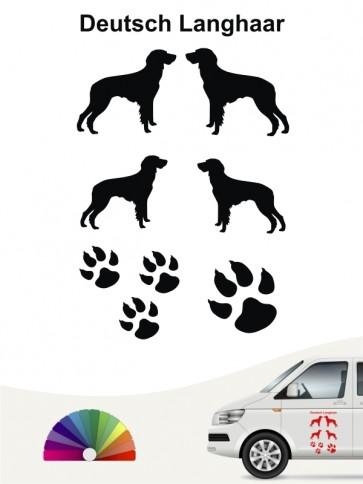 Hunde-Autoaufkleber Deutsch Langhaar 12 von Anfalas.de