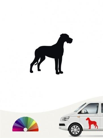 Hunde-Autoaufkleber Deutsche Dogge 1a Mini von Anfalas.de