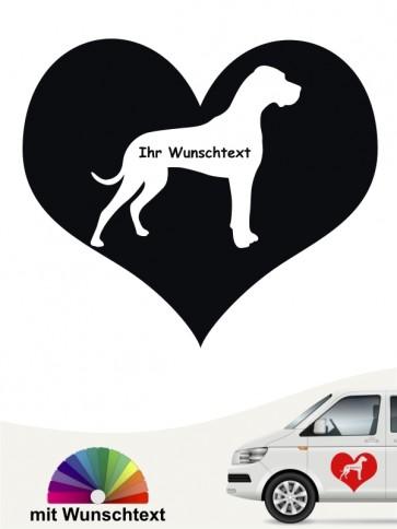 Deutsche Dogge Herzmotiv mit Wunschname anfalas.de