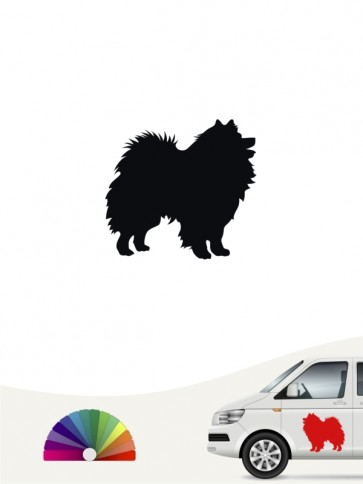Hunde-Autoaufkleber Deutsche Spitz 1 Mini von Anfalas.de
