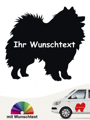 Deutsche Spitz Silhouette mit Wunschname anfalas.de