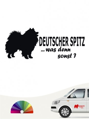 Deutsche Spitz was denn sonst Autosticker anfalas.de
