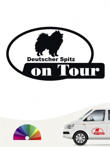 On Tour Aufkleber Deutsche Spitz anfalas.de