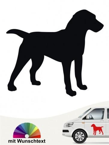 Deutscher Jagdterrier Hundeaufkleber mit Wunschtext anfalas.de