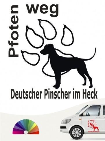 Pfoten weg Sticker Deutscher Pinscher anfalas.de