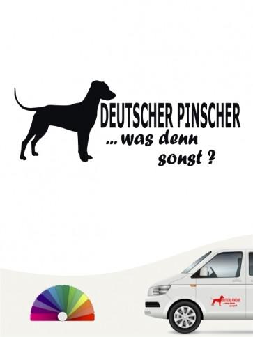 Deutscher Pinscher was denn sonst Heckscheibenaufkleber anfalas.de