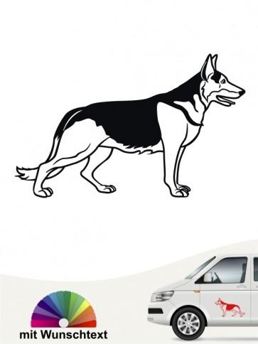 Deutscher Schäferhund Autosticker mit Wunschtext anfalas.de