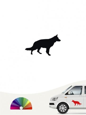 Hunde-Autoaufkleber Deutscher Schäferhund 1b Mini von Anfalas.de