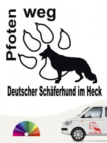 Pfoten weg Schäferhund Autoaufkleber anfalas.de