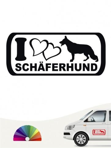 I Love Schäferhund Heckscheibenaufkleber versch. Farben anfalas.de