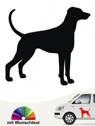 Dobermann Silhouette Sticker mit Wunschtext anfalas.de