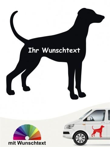 Dobermann Hundeaufkleber mit Wunschtext anfalas.de