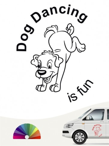 Dogdancing is fun Sticker von anfalas.de