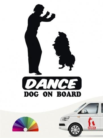 Hunde-Autoaufkleber Dog Dancing 7 von Anfalas.de
