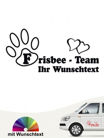 Frisbee Discdogging Team Aufkleber mit Wunschtext by anfalas.de