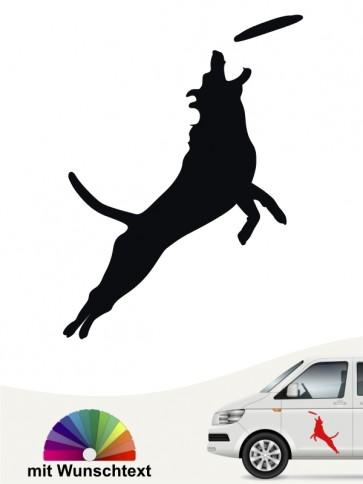Dog Frisbee Autosticker von anfalas.de