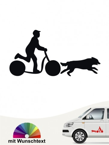 Dogscooting 6 - Aufkleber