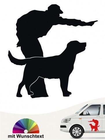 Hunde-Autoaufkleber Dummytraining 12 von Anfalas.de