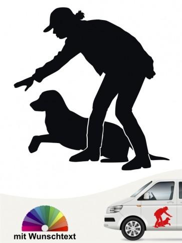 Dummytraining Hund Aufkleber von anfalas.de