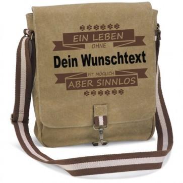 """Canvas Tasche """" Ein Leben ohne Hund"""" von anfalas.de"""