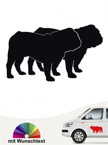 Doppelte English Bulldog Silhouette mit Text anfalas.de
