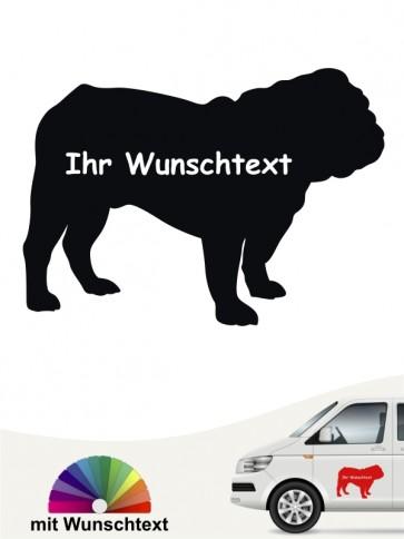 English Bulldog Silhouette mit Wunschname anfalas.de