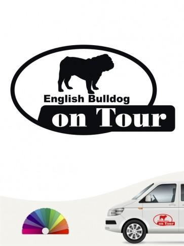 English Bulldog on Tour Heckscheibenaufkleber anfalas.de