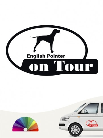 English Pointer on Tour Heckscheibenaufkleber anfalas.de