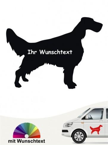 English Setter Autoaufkleber mit Wunschname anfalas.de
