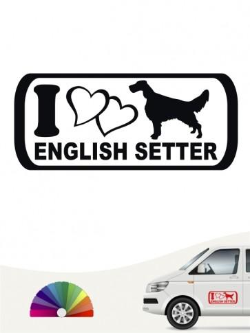 I Love Hundeaufkleber English Setter anfalas.de