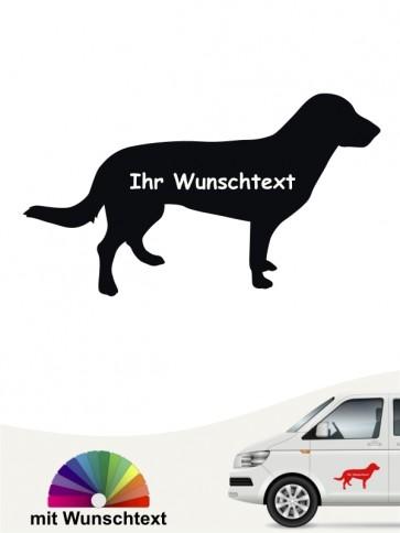 Entlebucher Sennhund Rasseaufkleber mit Text anfalas.de