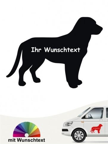 Entlebucher Sennenhund Silhouetten Aufkleber anfalas.de