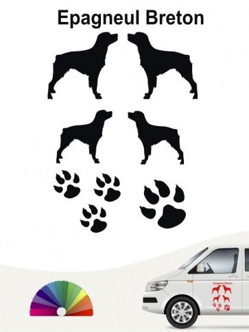 Hunde-Autoaufkleber Epagneul Breton 12 von Anfalas.de