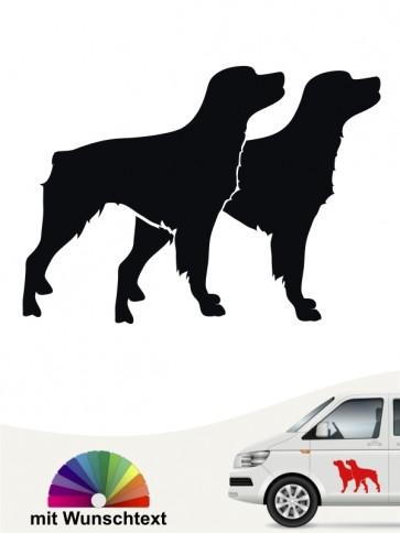 Doppel Silhouette Epagneul Breton Autoaufkleber mit Text anfalas.de