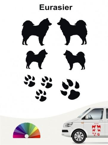 Hunde-Autoaufkleber Eurasier 12 von Anfalas.de
