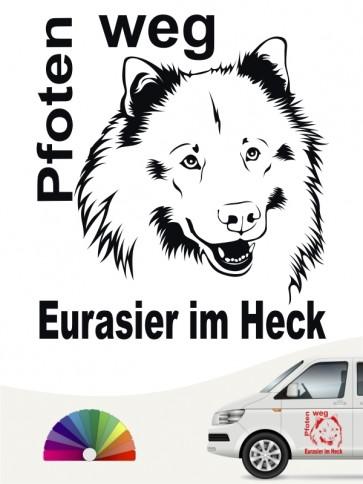 Pfoten weg Eurasier im Heck Aufkleber anfalas.de