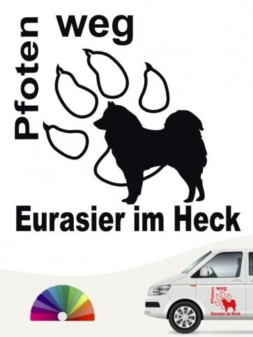 Eurasier Pfoten weg Autoaufkleber anfalas.de