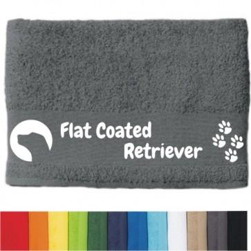 "DOG - Handtuch ""Flat Coated Retriever"" selbst gestalten | ANFALAS"