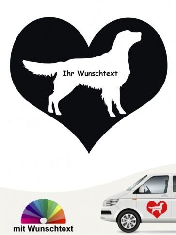 Flat Coated Retriever Herzmotiv mit Wunschtext anfalas.de