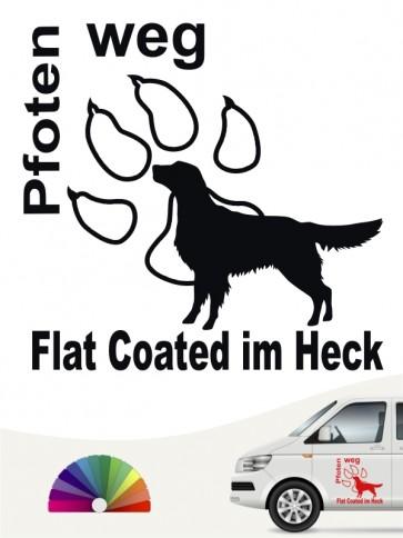 Flat Coated Pfoten weg Aufkleber anfalas.de
