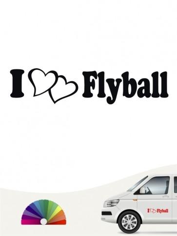 I love Flyball Heckscheibenaufkleber von anfalas.de